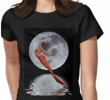 Freedom .. mermaid in moonlight Womens Fitted T-Shirt