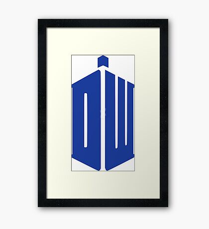 Doctor Who Your Tardis!!! Framed Print