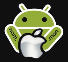 Android Nom Nom - Android Eat Apple One Piece - Long Sleeve