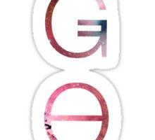 Vertical Galaxy Print OGOC Sticker