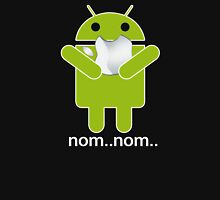 Android Nom Nom - Android Eat Apple Unisex T-Shirt