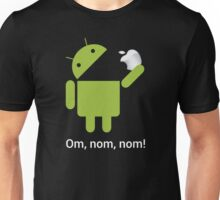 Android Om Nom Nom - Android Eat Apple Unisex T-Shirt