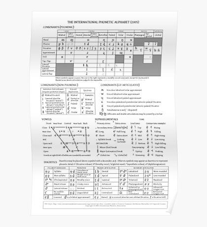 International Phonetic Alphabet Poster
