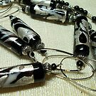 Black Beads and Silver Bling Necklace by Erica Long