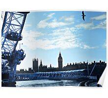 Blue London Poster