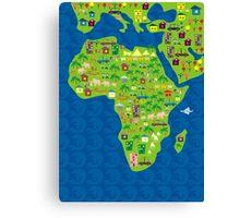 cartoon map of africa Canvas Print