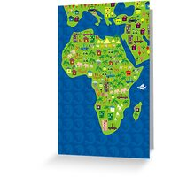 cartoon map of africa Greeting Card
