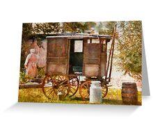 Americana - The Milk and Egg wagon  Greeting Card
