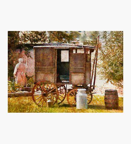 Americana - The Milk and Egg wagon  Photographic Print