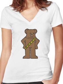 ChewBungle Women's Fitted V-Neck T-Shirt