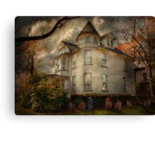 Fantasy - Haunted - The Caretakers House Canvas Print