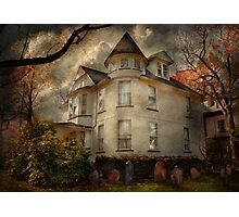 Fantasy - Haunted - The Caretakers House Photographic Print