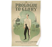 WPA United States Government Work Project Administration Poster 0621 Prologue to Glory Maxine Elliott's Theatre Poster