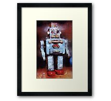Space Robot by John Springfield Framed Print