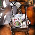 Antique - Chair - Grannies rocking chair  by Mike  Savad