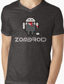 Android Zomdroid - Android Zombie Mens V-Neck T-Shirt