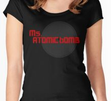 miss atomic bomb Women's Fitted Scoop T-Shirt