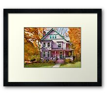 Victorian - Cranford, NJ - An Adorable house Framed Print