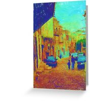 The cobblestone walk Greeting Card