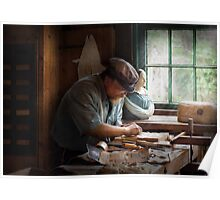 Trade - Carpenter - Carving the Figurehead  Poster