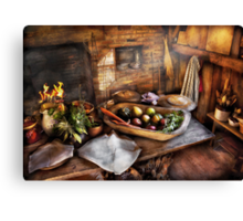 Chef - Kitchen - The start of a healthy meal  Canvas Print