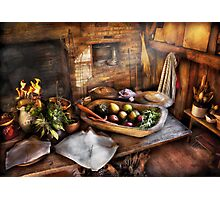 Chef - Kitchen - The start of a healthy meal  Photographic Print