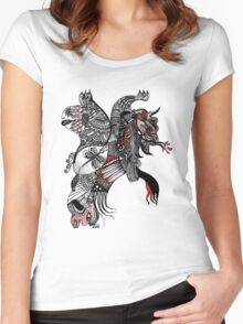 The elephant lion Women's Fitted Scoop T-Shirt