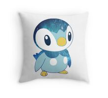 Galaxy Piplup Throw Pillow
