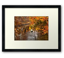 Autumn - Cranford, NJ - Exploring the unknown  Framed Print