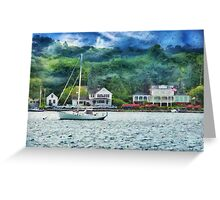 Transportation - Boat - Mystic CT - A good day to sail Greeting Card