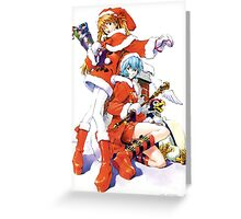 Evangelion Santas Greeting Card