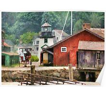 Transportation - Wagon - Mystic CT - Life at Mystic Poster
