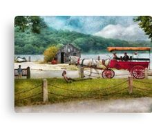 Transportation - Wagon - Traveling in style Canvas Print
