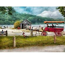 Transportation - Wagon - Traveling in style Photographic Print