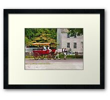 Transportation - Wagon - On way to the market  Framed Print