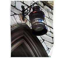 Old lamp, Mariners chapel, Gloucester docks, UK Poster