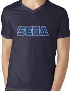 Sega - Classic Logo (distressed) Mens V-Neck T-Shirt