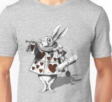 White rabbit heart Unisex T-Shirt