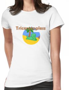 Triceratopless Womens Fitted T-Shirt