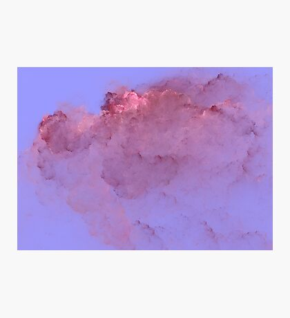 Abstract Pink Clouds Photographic Print