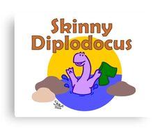 Skinny Diplodocus Canvas Print