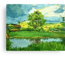 Landscape with one Tree Canvas Print