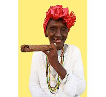 It's all in the Cuban smile Photographic Print