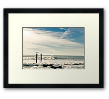 Atlantic City Scenery with Beautiful Sky Framed Print