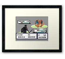 Dovahkiin vs Charizard Framed Print