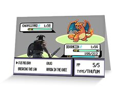 Dovahkiin vs Charizard Greeting Card