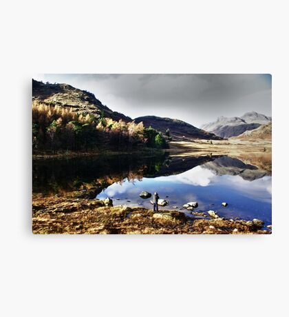 Mr Smith thinking of Paddling Canvas Print