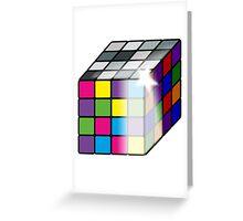 Rubiks Cube Greeting Card