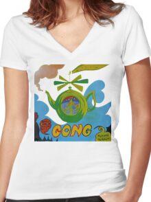 Gong T-Shirt Women's Fitted V-Neck T-Shirt
