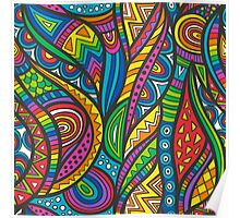 Wild Aztec Multi Coloured Poster